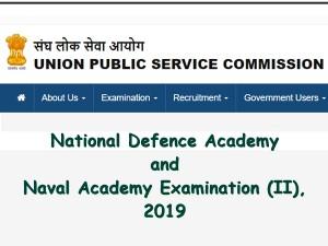 Upsc Nda Exam Ii 2019 Notification Registration Process Beg