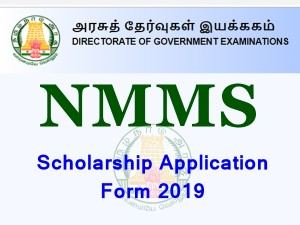 Nmms Scholarship Application Form 2019 Apply By Oct 21