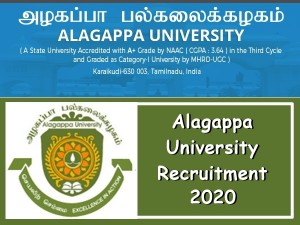 Alagappa University Recruitment 2020 Apply For Teaching And Non Teaching Post