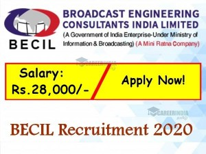 Becil Recruitment 2020 Application Invited For Programmer Post